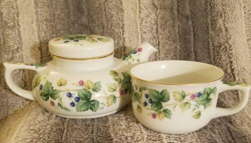 Andrea by Sadek India Garden Teapot with Tea Cup. New in box. Rare