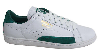 Puma Match 74 UPC Lace Up White Green Mens Leather Trainers 359518 06 Z60A
