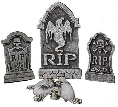 g Grabstein Totenköpfe Skelett Spinne Halloween Dekoration (Spinnen Halloween-dekoration)