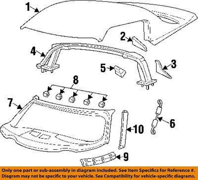 Dodge CHRYSLER OEM 96-00 Viper Roof-Windshield Frame QM22MX4AE