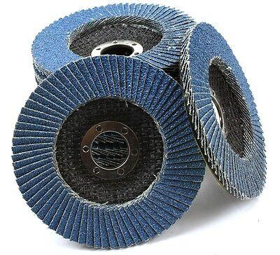 Pack 10 Premium Zirconia Flap Disc Sanding Grinding 4-12 X 78 40 Grit