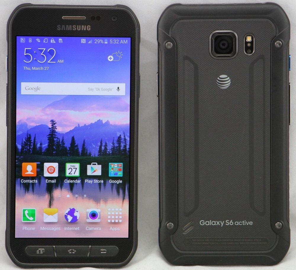samsung galaxy s6 active sm g890a 32gb gray at t gsm smartphone new auctions buy and. Black Bedroom Furniture Sets. Home Design Ideas