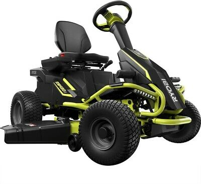 Riding Lawn Mower 38 in. Battery Electric Rear Engine Outdoo