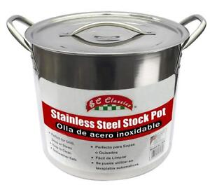 NEW Benecasa BC-17670 Stainless Steel Stock Pot, 20-Quart Condition: New