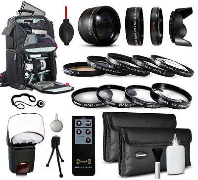 Backpack Lenses Filters Accessories for Canon EOS 600D 650D 700D 1000D DSLR