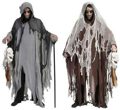 Halloween Umhang mit Kapuze | Gruseliges Ghul Tod - Herr Tod Halloween Kostüm