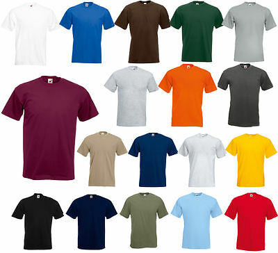 สำหรับขาย Fruit of the Loom Men's(S~4XL & 6~10 oz) Short Sleeves HEAVY HD cotton T-Shirt