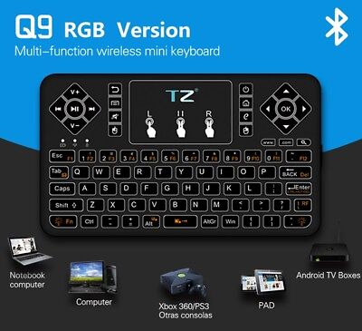 Best Mini Bluetooth Wireless Keyboard with Touchpad Mouse Colorful Backlit