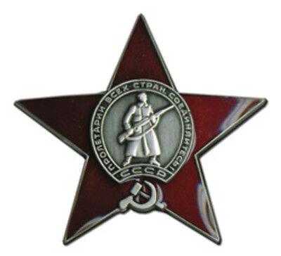 Red Star Russian Badge USSR Medal Order Soviet Russia Merit Army Navy Award Pin