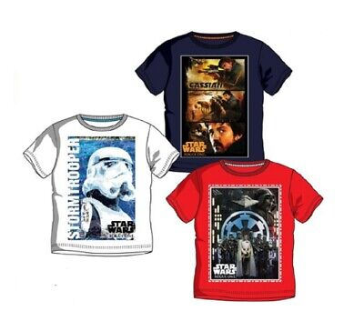 Boys Star Wars T Shirt Size 3 4 5 6 7 8 9 10 Yrs Summer Beach Holiday Casual Kid