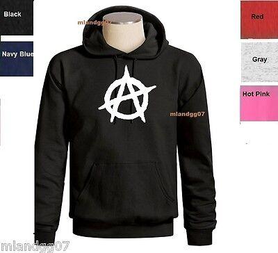 Anarchy Symbol  Sweatshirt The Circle A Hoodie SIZES S-3XL
