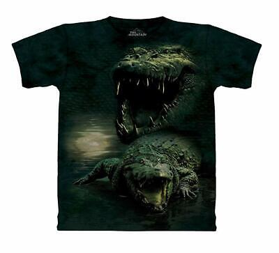 The Mountain Dark Gator Boy's Youth Short Sleeve Alligator T-Shirt  ()