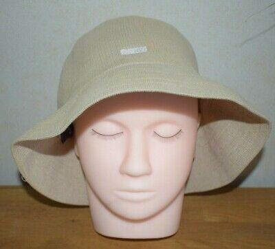 Kangol Cream Bucket Hat Size Regular weave cotton blend