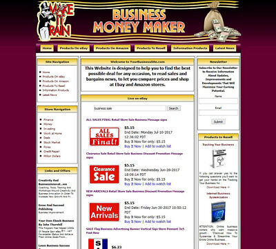 Established Internet Website Business For Sale - Work At Home Make Money