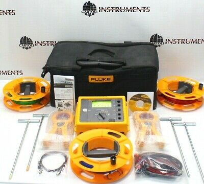 Fluke 1623-2 Kit Geo Earth Ground Resistance Tester Kit 1623 2