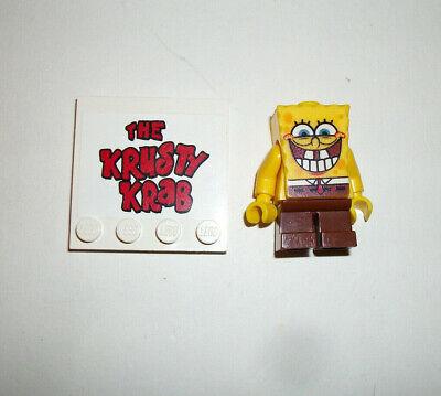 Lego Minifigure Figure Tv/Movie Series Spongebob Lot w Krusty Krab Sign