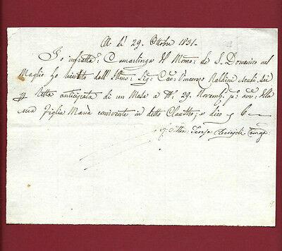 Pagamento Retta Monastero S. Domenico nel Maglio Pian di Ripoli Camarlinga 1831