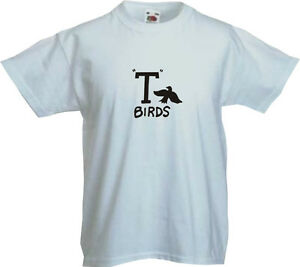 Grease-T-Birds-Kids-T-Shirt-Assorted-Colours-Sizes
