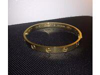 Cartier LOVE Bracelet 18K Gold - size 19