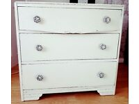 Original Vintage/Shabby Chic 3 drawer chest