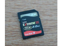 Sandisk Extreme III 2.0GB SD card