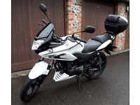 Honda CBF125, 2016, Service History, Heated Grips, Handlebar Muffs, Quick Connect Battery Charger.