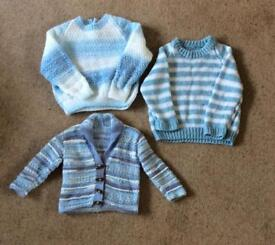 Hand knitted jumpers and cardigan vgc