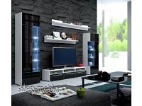 Wall Unit Roma / Free LED !!! / TV Stand / Living room furniture / High Gloss