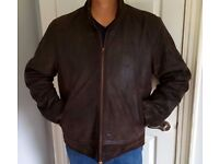 Joe Browns - Mens Leather Jacket- Brown - XXL- Great Condition