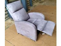 Ex Display Recliner Chair - Grey/Purple