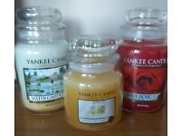 Trio of Yankee Candles