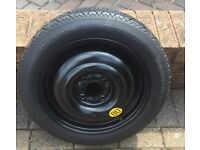 GENUINE FORD FIESTA SPACE SAVER SPARE WHEEL & CONTINENTAL TYRE – T125/80/R15. NO OFFERS