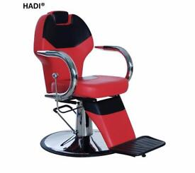 NEW RED& BLACK HADI® BARBER CHAIR BC-27,CASH ON COLLECTION ONLY new uk
