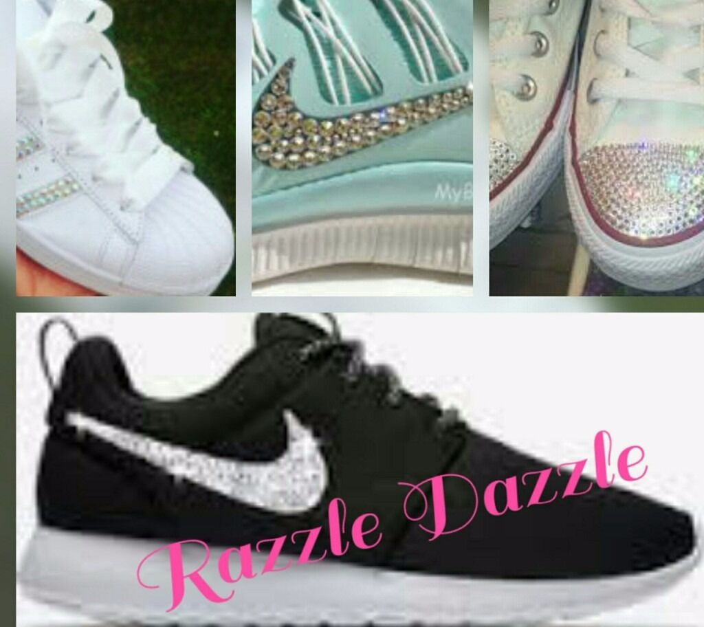 Custom Rhinestoned shoes