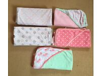 Baby girl Hooded towels