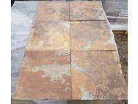 TILES JOB LOT 01: Aged look Terracotta & grey anti-slip (R11) porcelain tiles 30 square metres