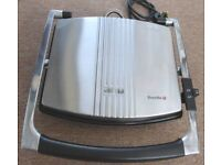 Breville Sandwich and Panini Maker Hinged Lid 2000W Non Stick Plates Silver