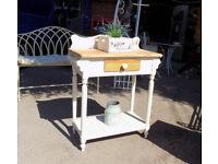 Painted pine shabby chic washstand