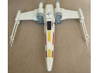 Star wars X-wing model fighter with R2D2 pilot, large, collectable.