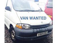 Toyota Hiace ,Hilux van wanted