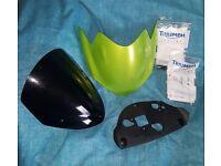 Triumph street triple flyscreen kit and flyscreen visor kit genuine parts