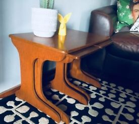Retro/vintage Danish style teak nest tables