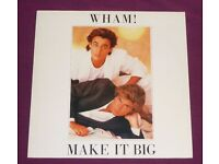 Wham! Make It Big Vinyl LP Record With Rare Upside Down Cover