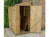 6ft x 3 ft compact wooden shed brand new never assembled