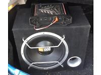 JBL 1000 watt Car Subwoofer & Kicker Amp