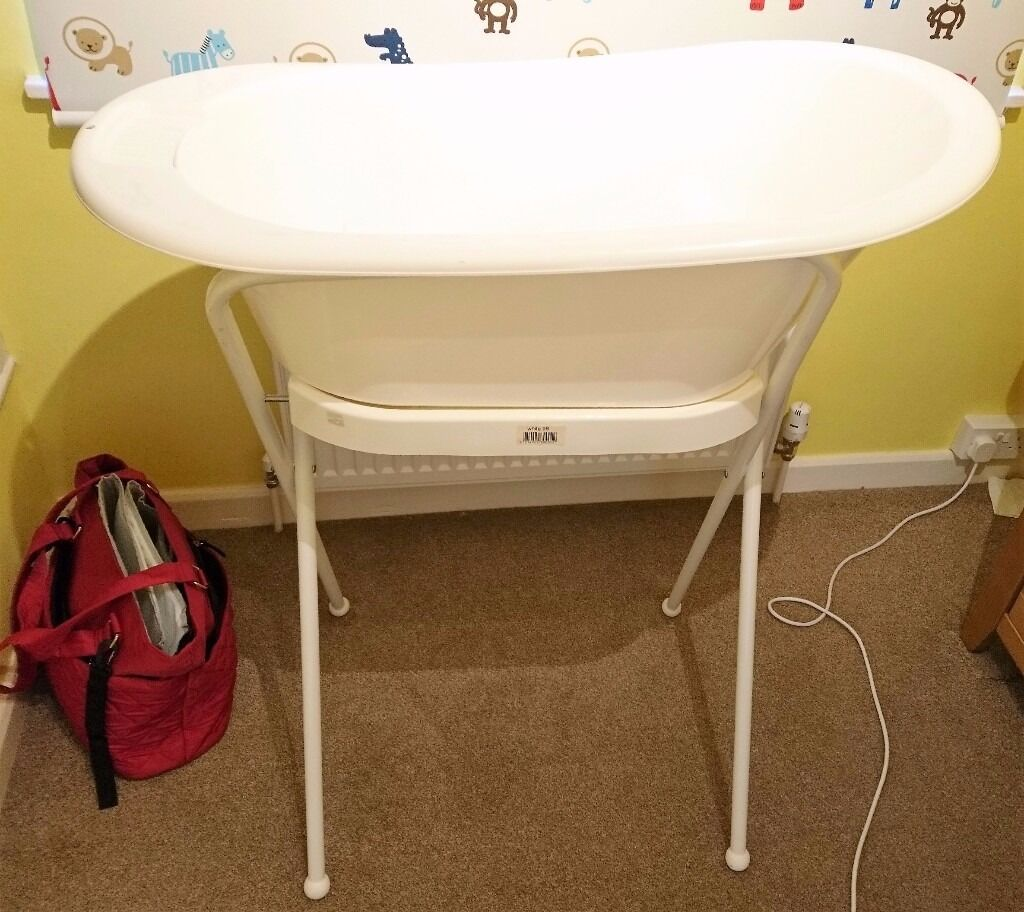 Baby Bath and Stand White Bebe Jou Bébé-Jou Plus Seat and Hose | in ...