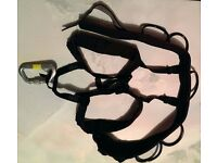 Mountaineering Climbing Harness with Carabiners Used
