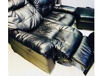 All set of leather lazy chairs 2+1+ footrest for sale