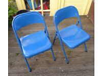 Metal folding chairs seat garden