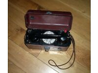 Stunning vintage GPO lineman's bakelite telephone with rotary dial